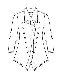 さらっと羽織れる裏無しロングジャケット型紙と作り方【ダウンロード版】