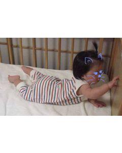 パネルボーダー生地で作る赤ちゃんつなぎ型紙と作り方【ダウンロード版】