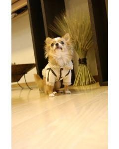 【犬の服】フェイクファージャケット型紙と作り方