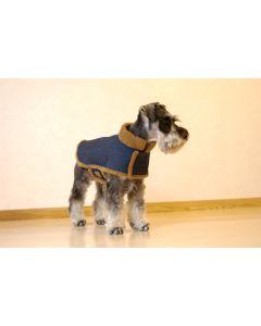 【犬の服】スタンドカラーのボアコート型紙と作り方