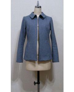 【お買い得セール】前ファスナー明き丸衿ジャケット【サンプル制作で使用したカット済み型紙】と作り方