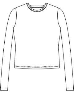 メンズサイズ・長袖UネックTシャツの型紙【ダウンロード版】