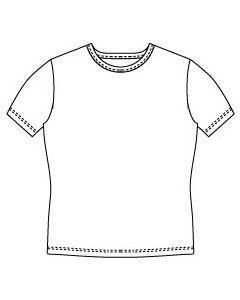 メンズサイズ・半袖UネックTシャツの型紙