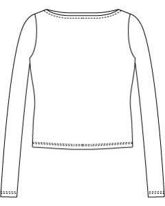 メンズサイズ・長袖ボートネックTシャツの型紙