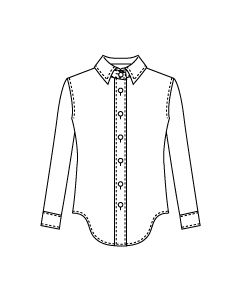 【グレーディングルール付き】台衿付きシャツブラウス型紙と作り方【ダウンロード版】data-ori-bl-003-gr