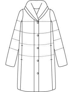 【グレーディングルール付き】中綿入りぷっくり衿のコート型紙と作り方【ダウンロード版】data-ori-co-009-gr