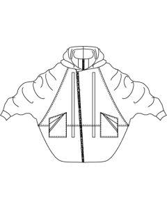フード付きドルマンコクーンコート型紙と作り方