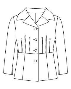 大きめテーラーカラー七分袖ジャケット型紙と作り方