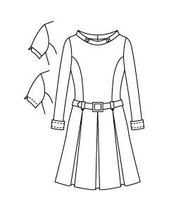 【グレーディングルール付き】3種類の袖付きスタンドカラーボックスプリーツワンピース型紙と作り方【ダウンロード版】data-ori-op-014-gr