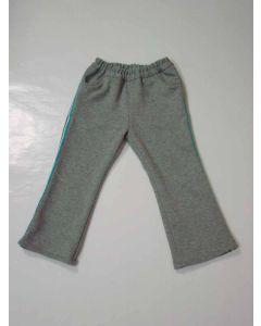 子供用 前切替ポケットと後パッチポケット付きロング丈スウェットパンツ型紙と作り方