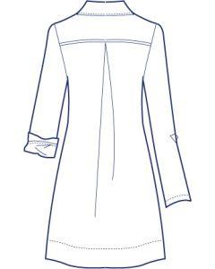 ロールアップオーバーロングシャツブラウス型紙(パターン)