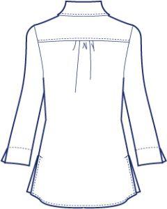 シンプルヨークシャツブラウス型紙(パターン)