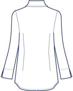 シンプル台衿付きシャツブラウス型紙(パターン)