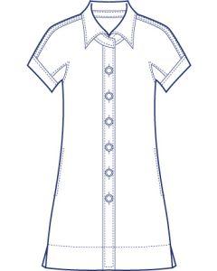 リネンで作る半袖ドルマンシャツブラウス型紙(パターン)【ダウンロード版】