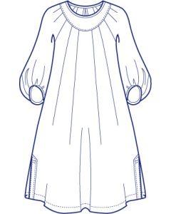 ヨーク付きラグランタックチュニック型紙(パターン)【ダウンロード版】