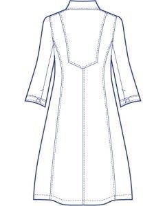 台衿付きロングシャツブラウス型紙(パターン)