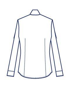 比翼仕立て高め台衿シャツブラウス型紙(パターン)【ダウンロード版】