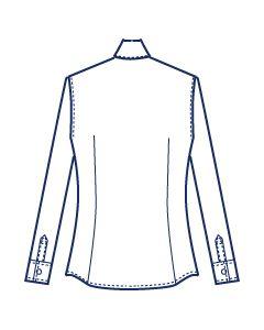 フラップポケット付きウエストダーツシャツブラウス型紙(パターン)【ダウンロード版】