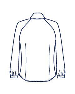 ラグランタックブラウス型紙(パターン)【ダウンロード版】