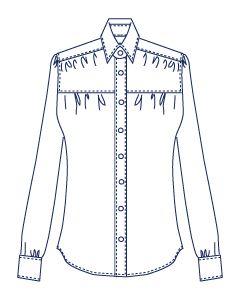 ギャザーシャツブラウス型紙(パターン)