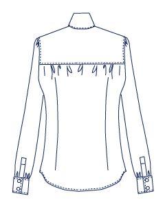 ギャザーシャツブラウス型紙(パターン)【ダウンロード版】