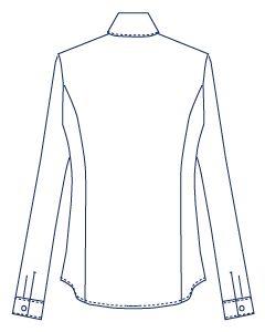 4面体フリルシャツブラウス型紙(パターン)【ダウンロード版】