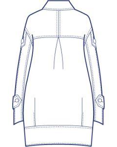 総裏ワイドコクーンコート型紙(パターン)