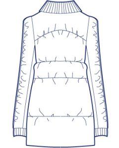 総裏ニット衿ダウンコート型紙(パターン)