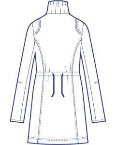 総裏ギャザースタンド衿ドローストリングコート型紙(パターン)