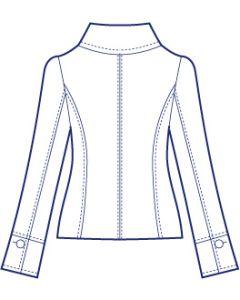 大きめ衿の総裏ショートコート型紙(パターン)
