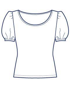パフスリーブカットソー型紙(パターン)