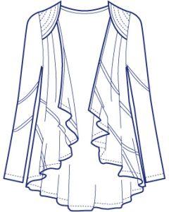 ドレープカスケードカーディガン型紙(パターン)