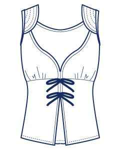 リボンカットソーベスト型紙(パターン)