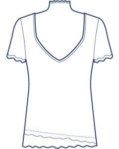レイヤード風カットソー型紙(パターン)