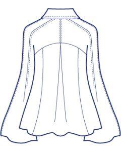 総裏ラグランピンタックジャケット型紙(パターン)
