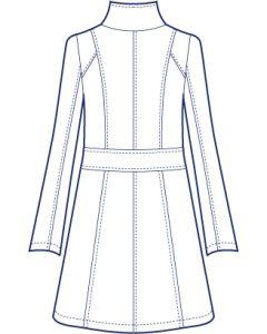リネンで作るスタンドカラーロングジャケット型紙(パターン)