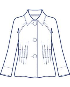 リネンで作るラグランタックジャケット型紙(パターン)【ダウンロード版】