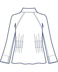 リネンで作るラグランタックジャケット型紙(パターン)