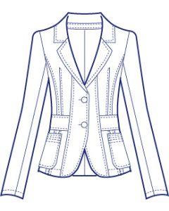 リネンで作るテーラードジャケット型紙(パターン)【ダウンロード版】