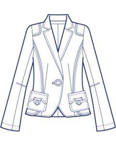 肩タブ付き総裏テーラードジャケット型紙(パターン)【ダウンロード版】