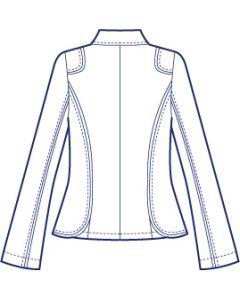 肩タブ付き総裏テーラードジャケット型紙(パターン)