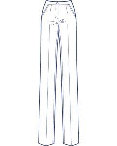 ストレッチスリムストレートパンツ型紙(パターン)【ダウンロード版】