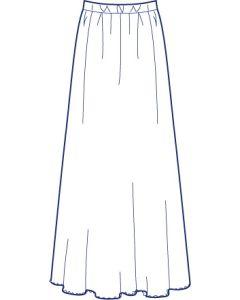チュールレースで作る総裏ギャザースカート型紙(パターン)