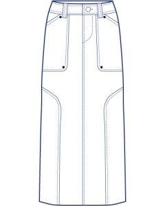 ヨーク&ベンツ明き総裏タイトスカート型紙(パターン)