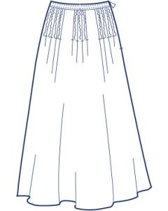 総裏タックフレアースカート型紙(パターン)【ダウンロード版】