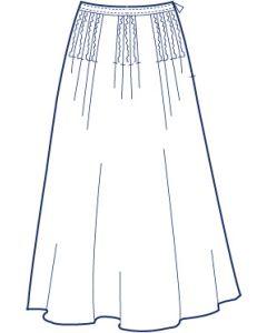 総裏タックフレアースカート型紙(パターン)