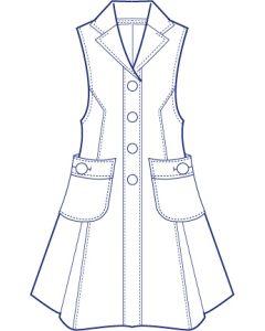 フレアーロングベスト型紙(パターン)【ダウンロード版】