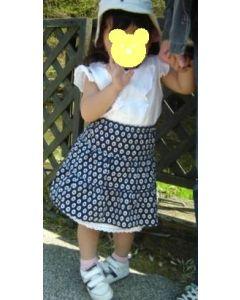 子供服 ティアードスカートの型紙