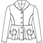 裾フレアーの裏無しジャケット型紙と作り方【ダウンロード版】