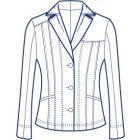 立体的なダーツ衿のジャケット型紙(パターン)【ダウンロード版】